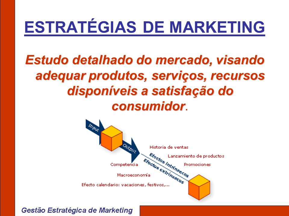 Estudo detalhado do mercado, visando adequar produtos, serviços, recursos disponíveis a satisfação do consumidor Estudo detalhado do mercado, visando