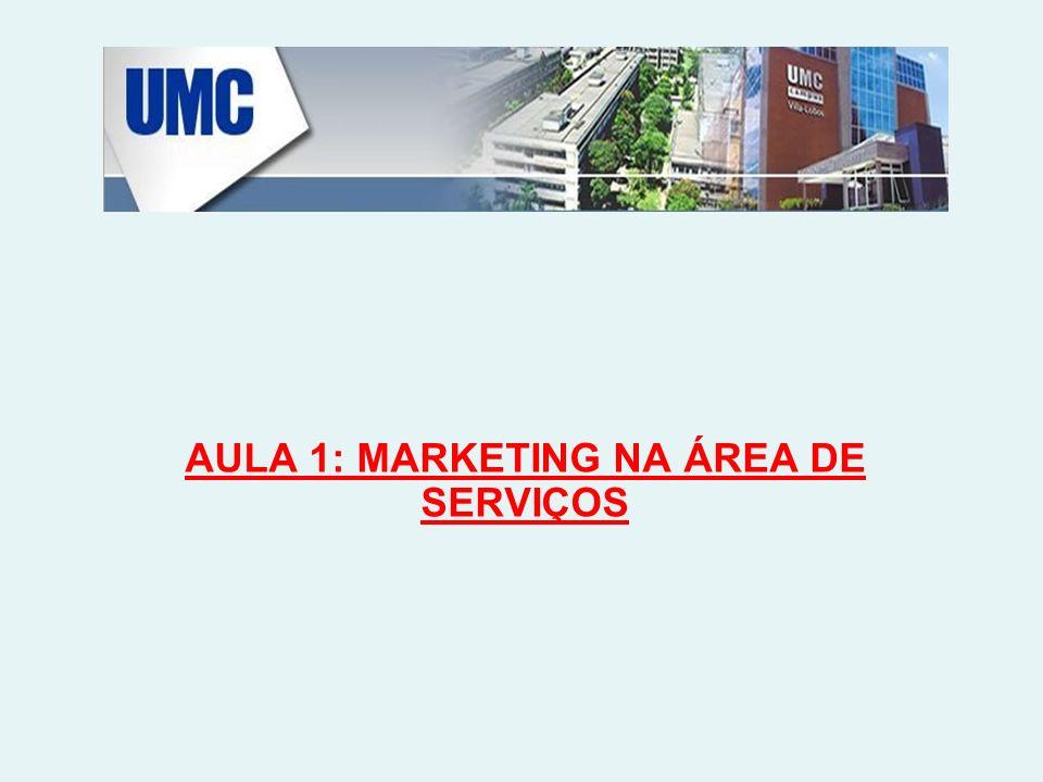 AULA 1: MARKETING NA ÁREA DE SERVIÇOS