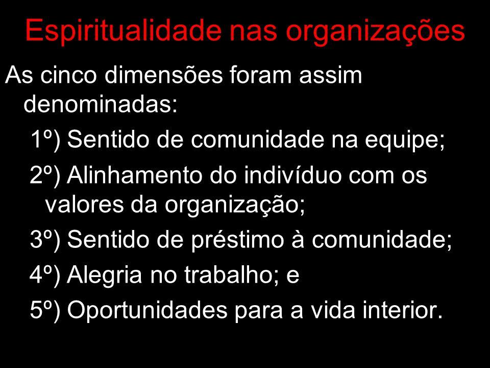 Espiritualidade nas organizações Está ultrapassada as investigações nas organizações exclusiva à razão dos seres humanos visto que são dotados de emoções e não se desprendem nelas no trabalho (inteligência emocional).