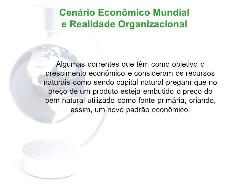 Cenário Econômico Mundial e Realidade Organizacional A relação entre organização e ambiente já não é mais a mesma.