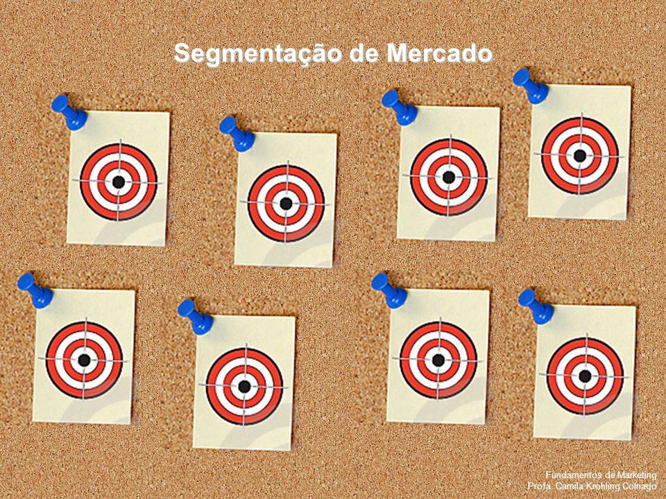 Fundamentos de Marketing Profa. Camila Krohling Colnago Segmentação de Mercado Fundamentos de Marketing Profa. Camila Krohling Colnago