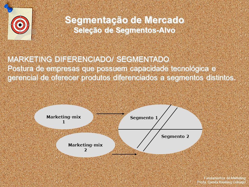 Fundamentos de Marketing Profa. Camila Krohling Colnago Fundamentos de Marketing Profa. Camila Krohling Colnago MARKETING DIFERENCIADO/ SEGMENTADO Pos