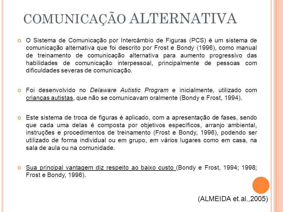 O Sistema de Comunicação por Intercâmbio de Figuras (PCS) é um sistema de comunicação alternativa que foi descrito por Frost e Bondy (1996), como manu