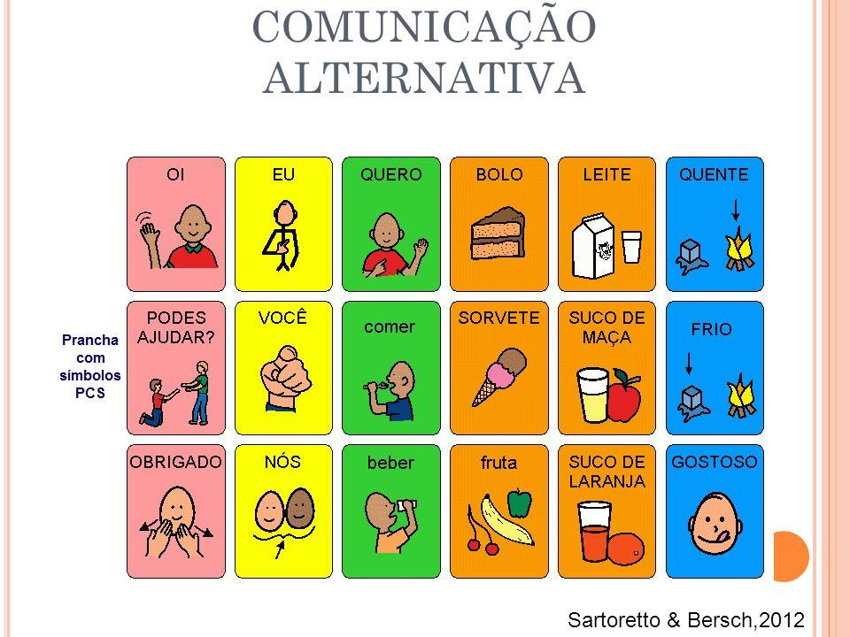 COMUNICAÇÃO ALTERNATIVA Sartoretto & Bersch,2012