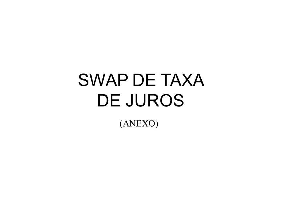 SWAP DE TAXA DE JUROS (ANEXO)