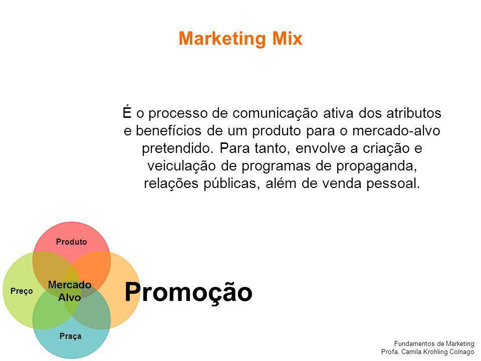 Fundamentos de Marketing Profa.Camila Krohling Colnago Fundamentos de Marketing Profa.
