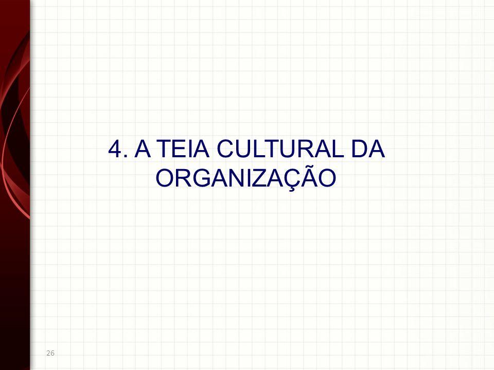 26 4. A TEIA CULTURAL DA ORGANIZAÇÃO