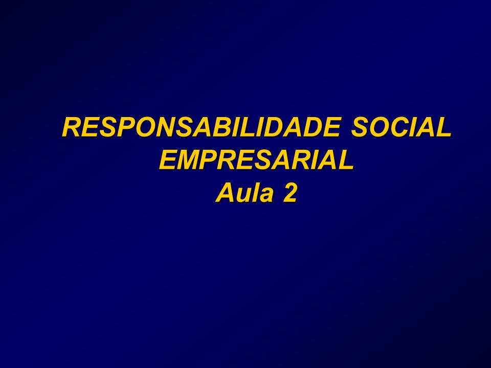 RESPONSABILIDADE SOCIAL EMPRESARIAL Aula 2