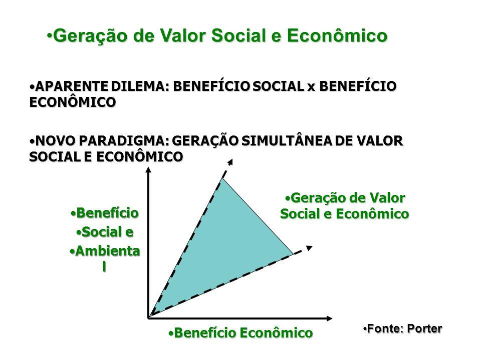 BenefícioBenefício Social eSocial e Ambienta lAmbienta l Benefício EconômicoBenefício Econômico Geração de Valor Social e EconômicoGeração de Valor So