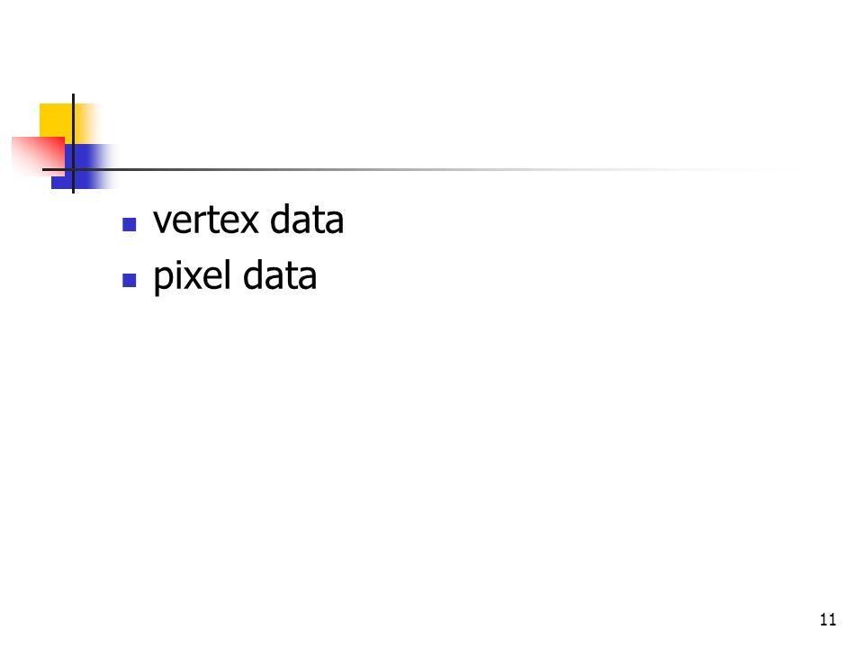 11 vertex data pixel data