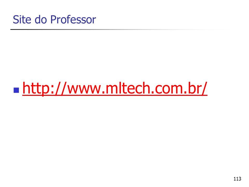 113 Site do Professor http://www.mltech.com.br/