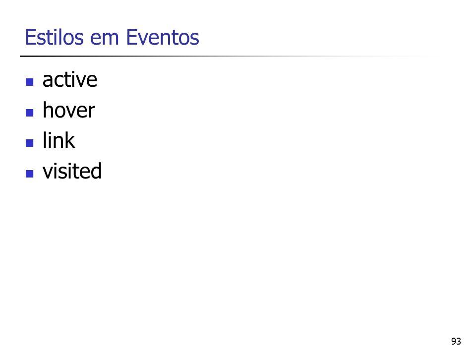 93 Estilos em Eventos active hover link visited