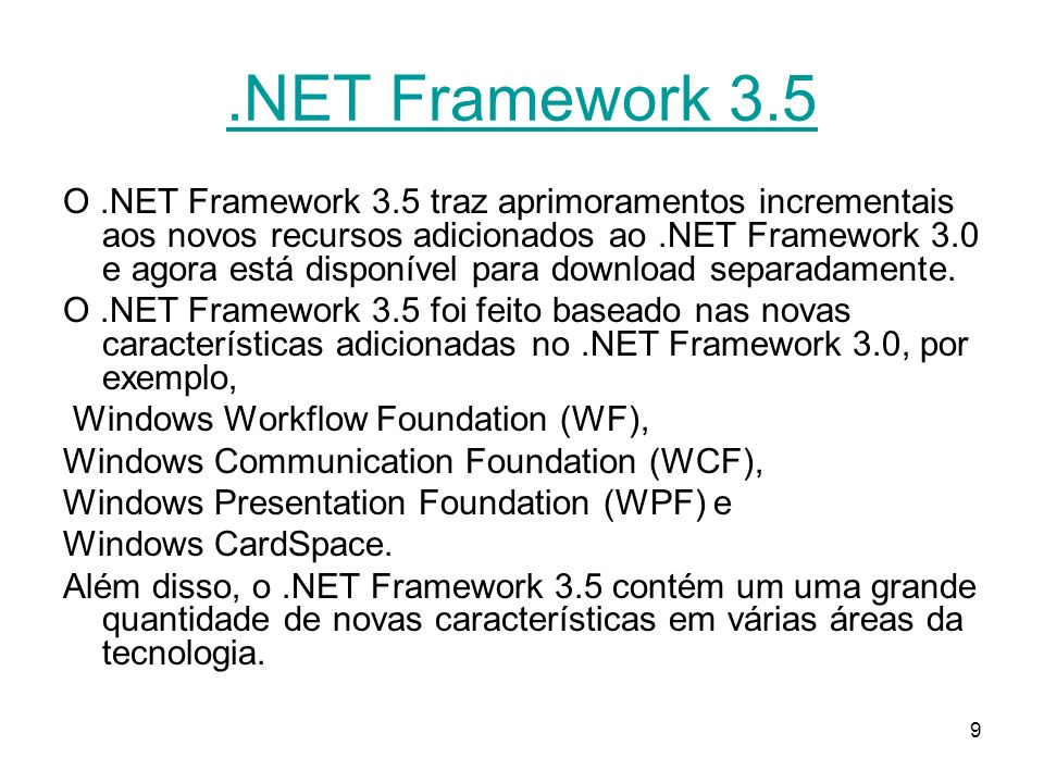 20 FCL (Framework Class Libraries) The.NET Framework types are the foundation on which.NET applications, components, and controls are built.