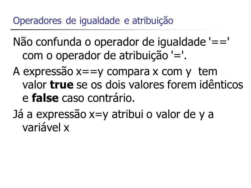 Expressões São combinações de variáveis, constantes e operadores Quando montamos expressões temos que considerar a ordem em que os operadores são executados Essa ordem é definida pela tabela de precedência