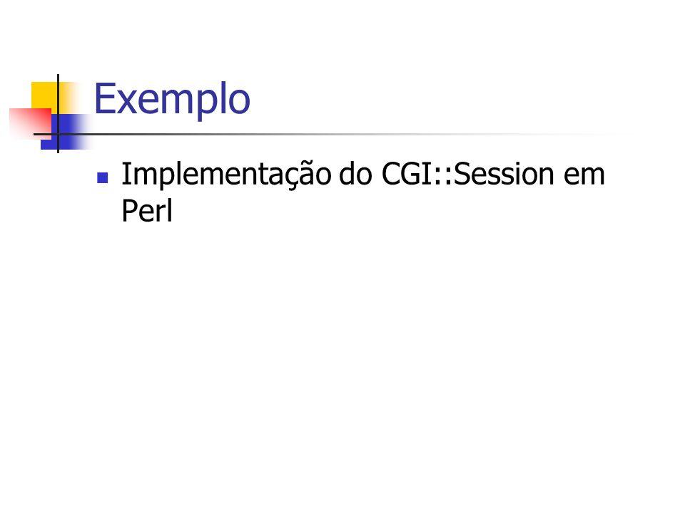 Exemplo Implementação do CGI::Session em Perl