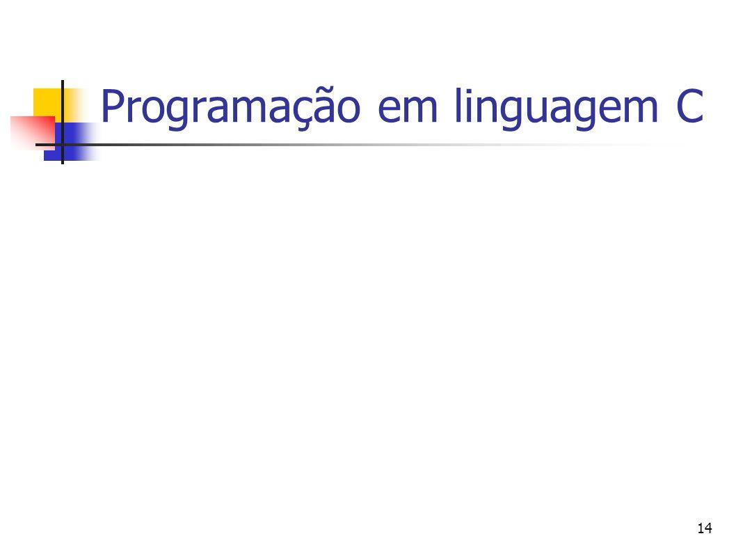 14 Programação em linguagem C