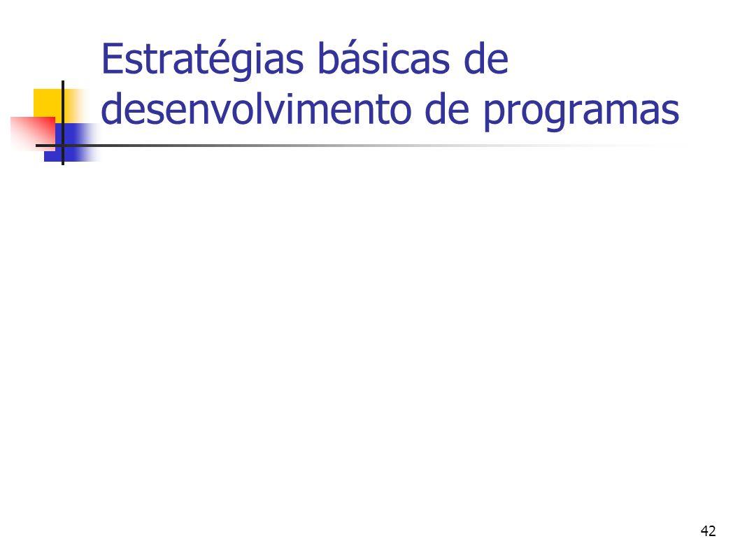 42 Estratégias básicas de desenvolvimento de programas