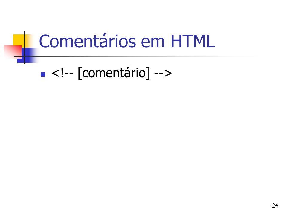 24 Comentários em HTML