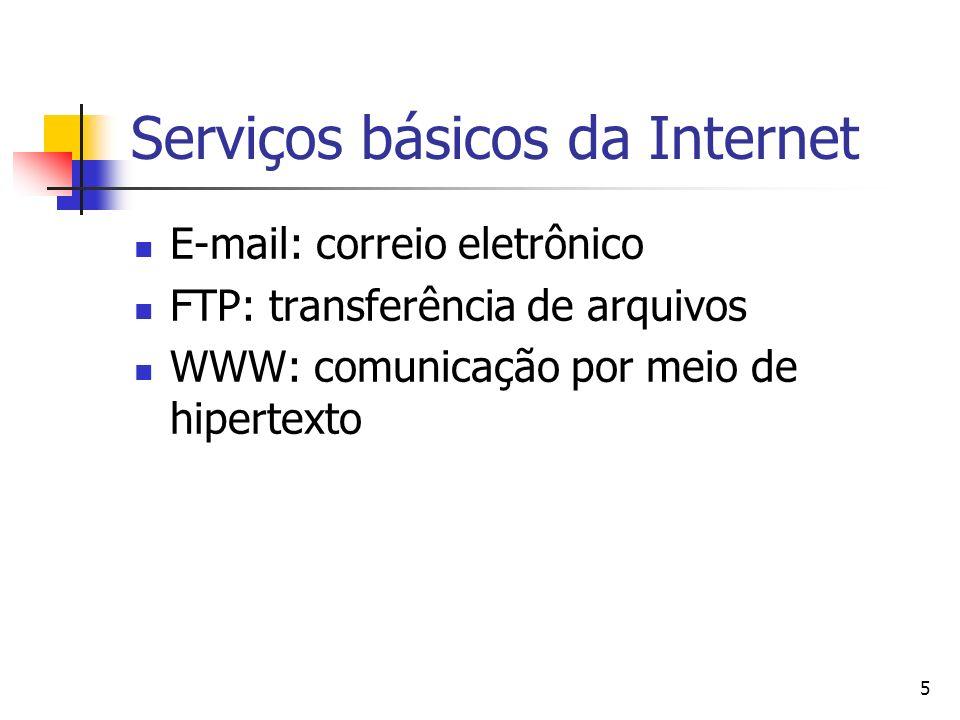 16 Linguagem HTML A linguagem HTML é transportada pelo protocolo HTTP (HyperText Transfer Protocol) ou Protocolo de Transferência de Hypertexto