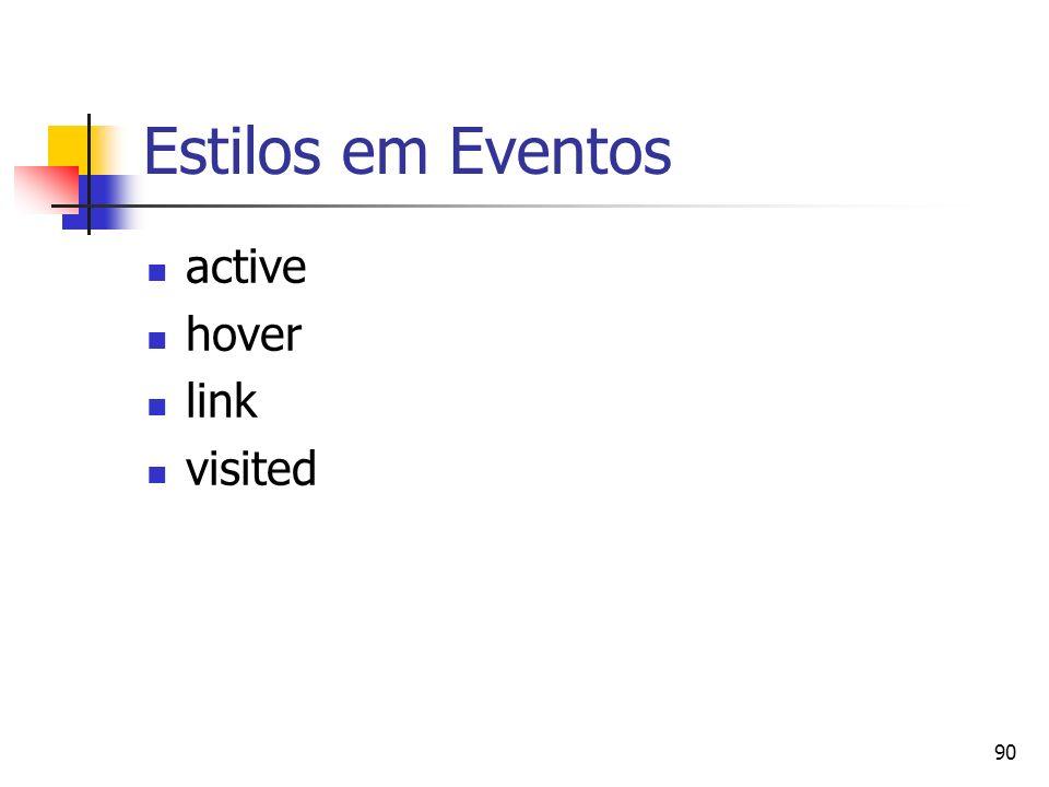 90 Estilos em Eventos active hover link visited