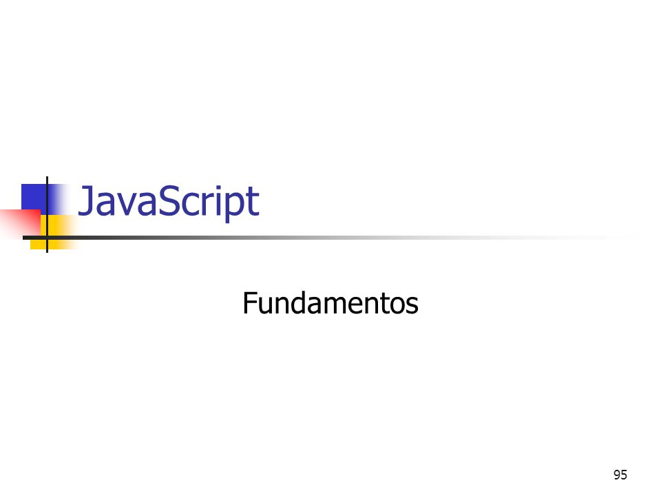 95 JavaScript Fundamentos