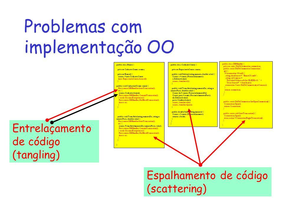 Problemas com implementação OO public class CadastroContas { private RepositorioContas contas; public void Debitar(string numero, double valor) { Cont