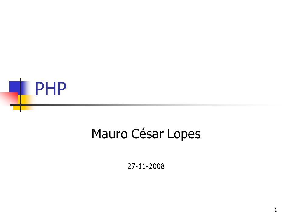 1 PHP Mauro César Lopes 27-11-2008