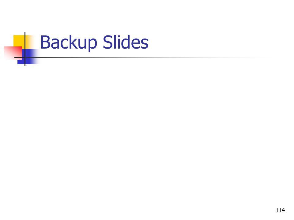 114 Backup Slides