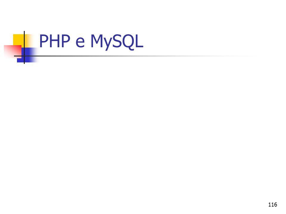 116 PHP e MySQL
