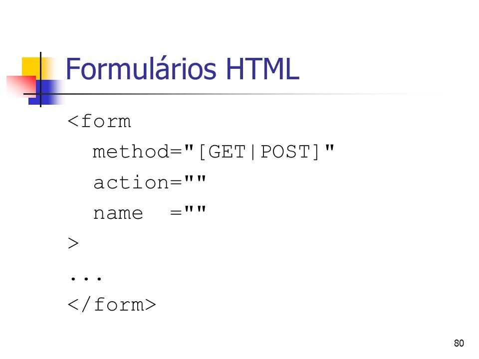 80 Formulários HTML <form method=