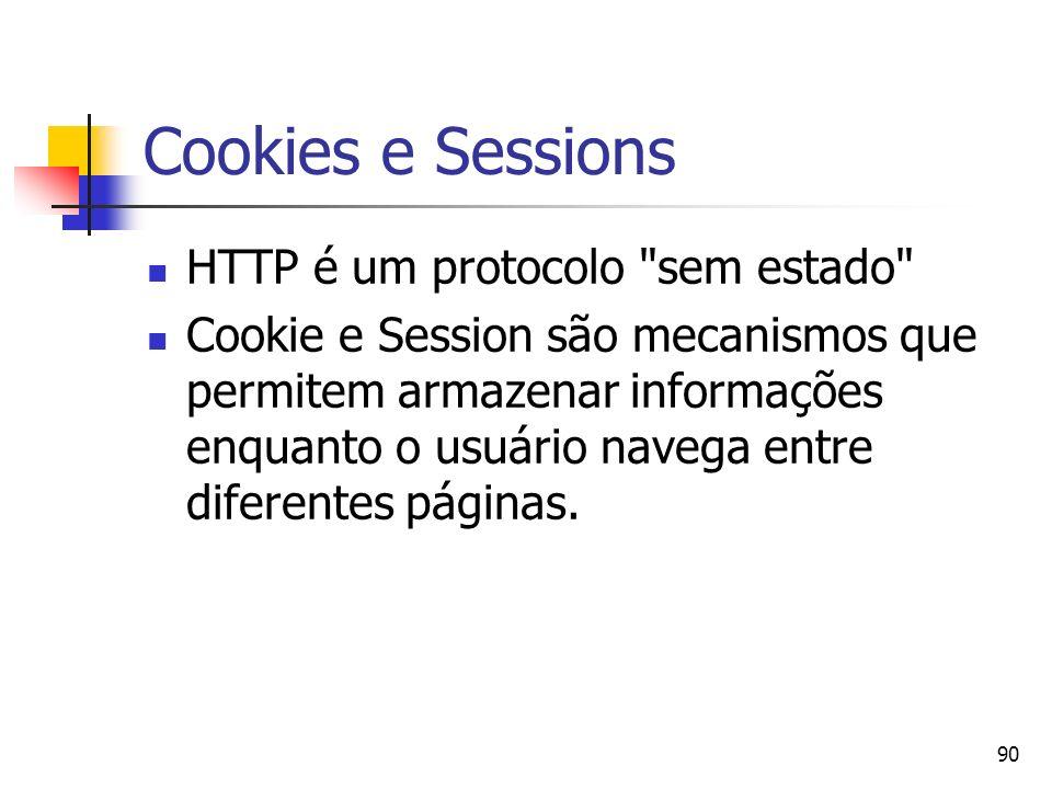 90 Cookies e Sessions HTTP é um protocolo