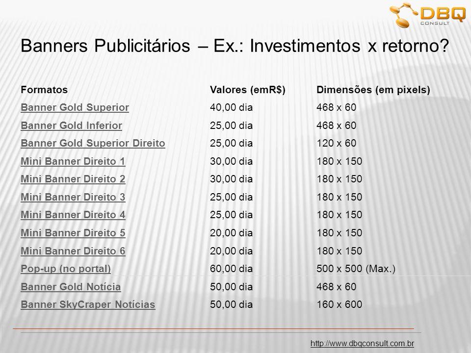 http://www.dbqconsult.com.br Banners Publicitários – Investimentos x retorno.