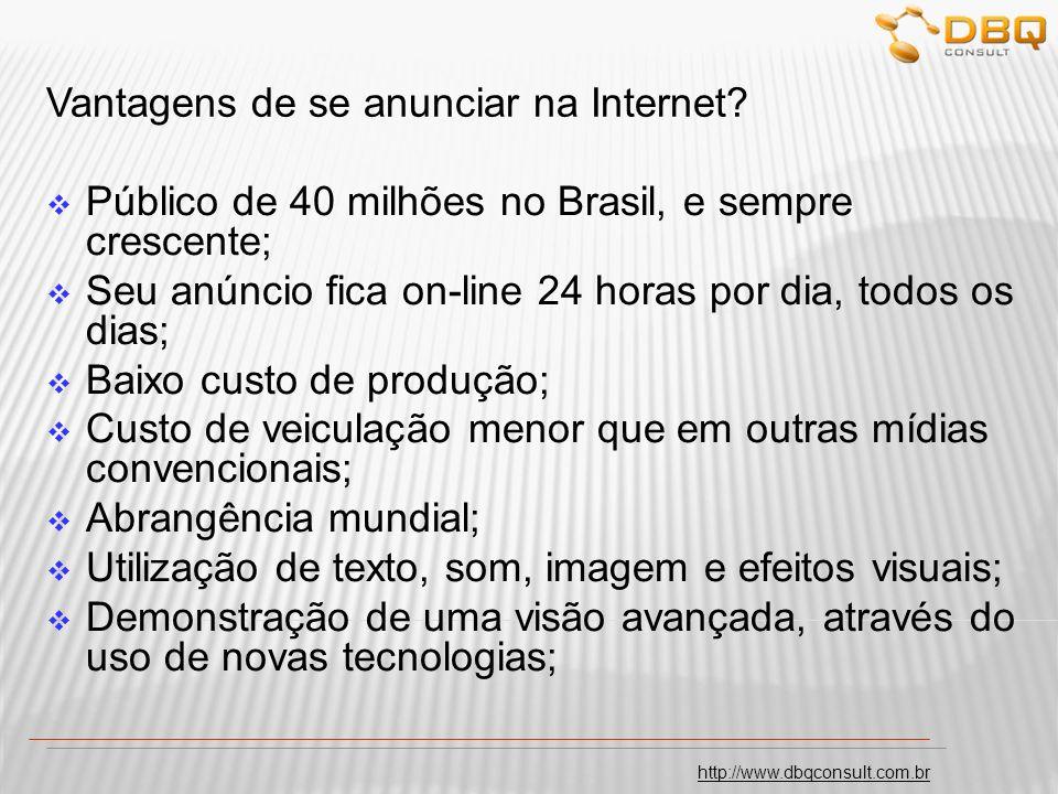 http://www.dbqconsult.com.br Vantagens para anunciar na Internet?