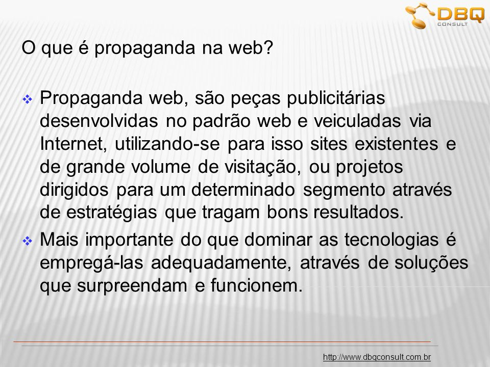 http://www.dbqconsult.com.br Modelo do fluxo para publicação da mídia