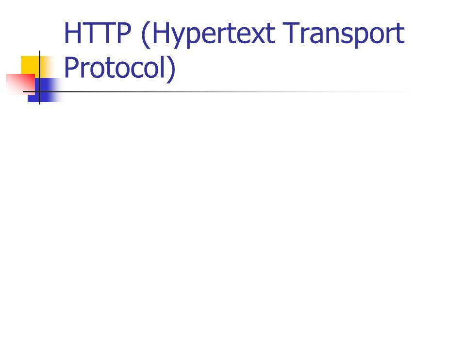 HTTP (Hypertext Transport Protocol)
