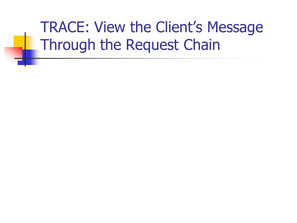 TRACE: View the Clients Message Through the Request Chain