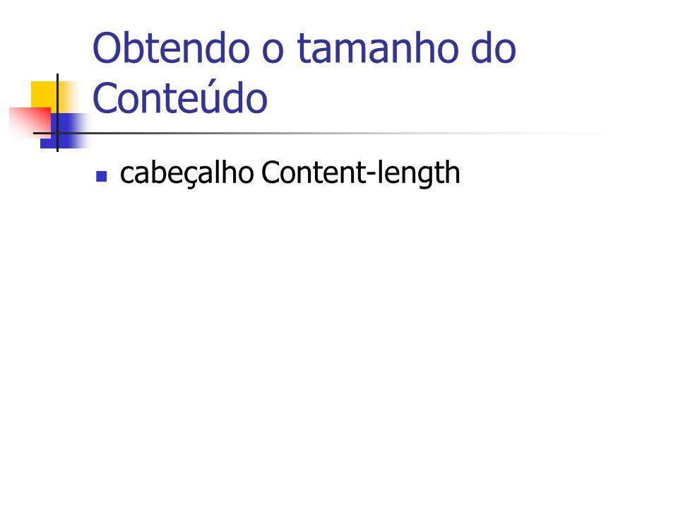 Obtendo o tamanho do Conteúdo cabeçalho Content-length