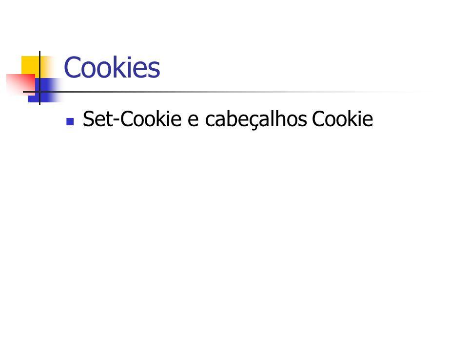 Cookies Set-Cookie e cabeçalhos Cookie