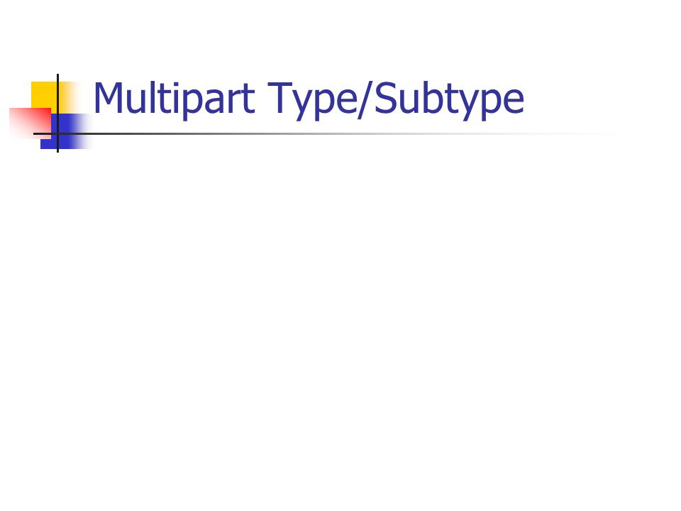Multipart Type/Subtype