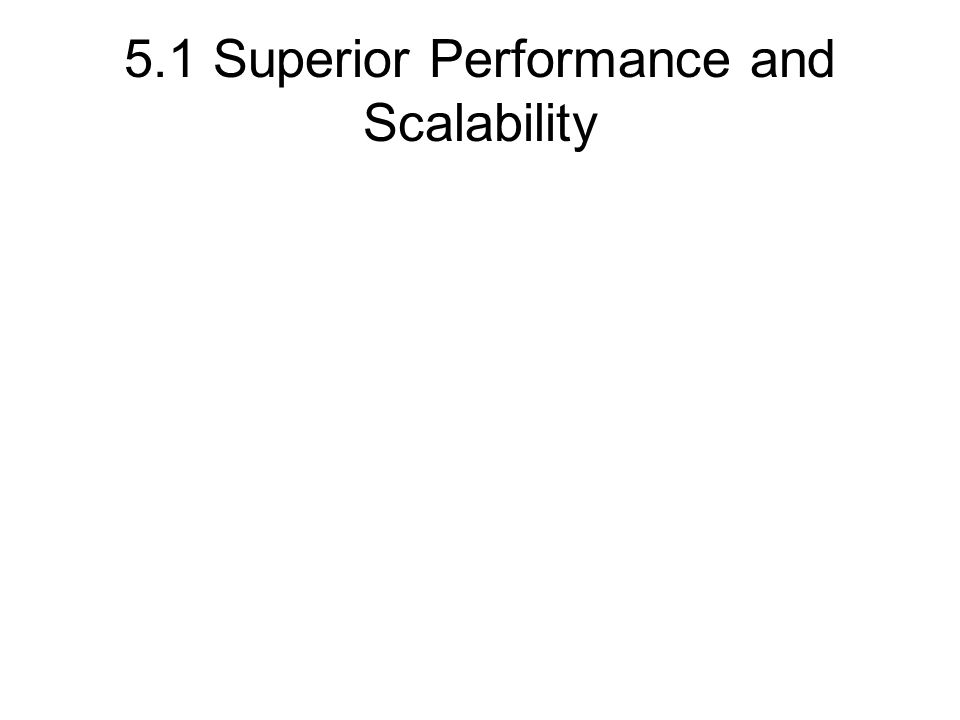 5.1 Superior Performance and Scalability