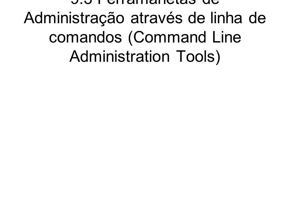 Ferramentas de linha de comando ccs_tool (Cluster Configuration System Tool) cman_tool (Cluster Management Tool) fence_tool (Fence Tool) clustat (Cluster Status Utility) clusvcadm (Cluster User Service Administration Utility)