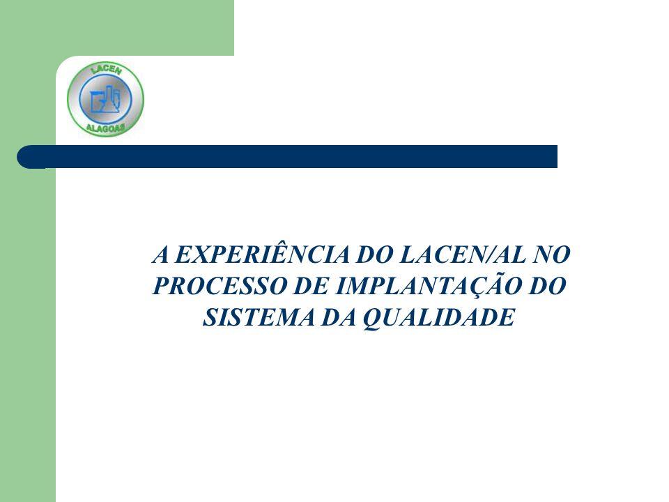 A EXPERIÊNCIA DO LACEN/AL NO PROCESSO DE IMPLANTAÇÃO DO SISTEMA DA QUALIDADE