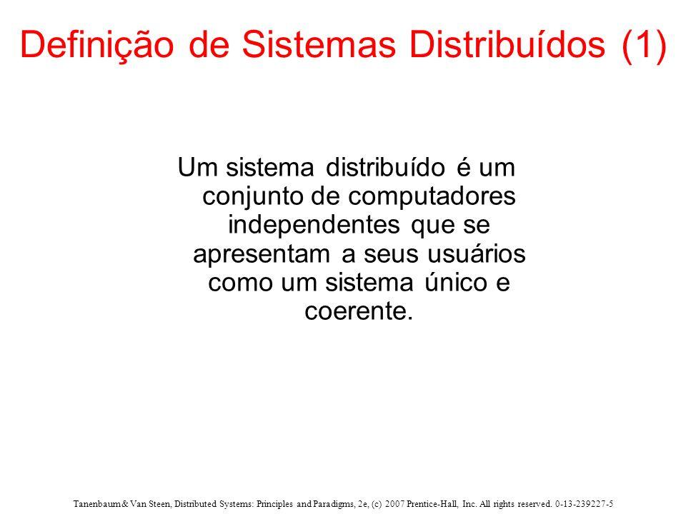 Tanenbaum & Van Steen, Distributed Systems: Principles and Paradigms, 2e, (c) 2007 Prentice-Hall, Inc. All rights reserved. 0-13-239227-5 Definição de
