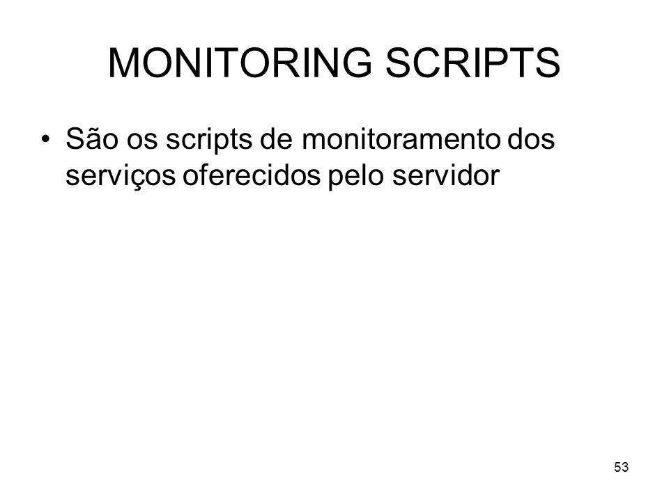 53 MONITORING SCRIPTS São os scripts de monitoramento dos serviços oferecidos pelo servidor