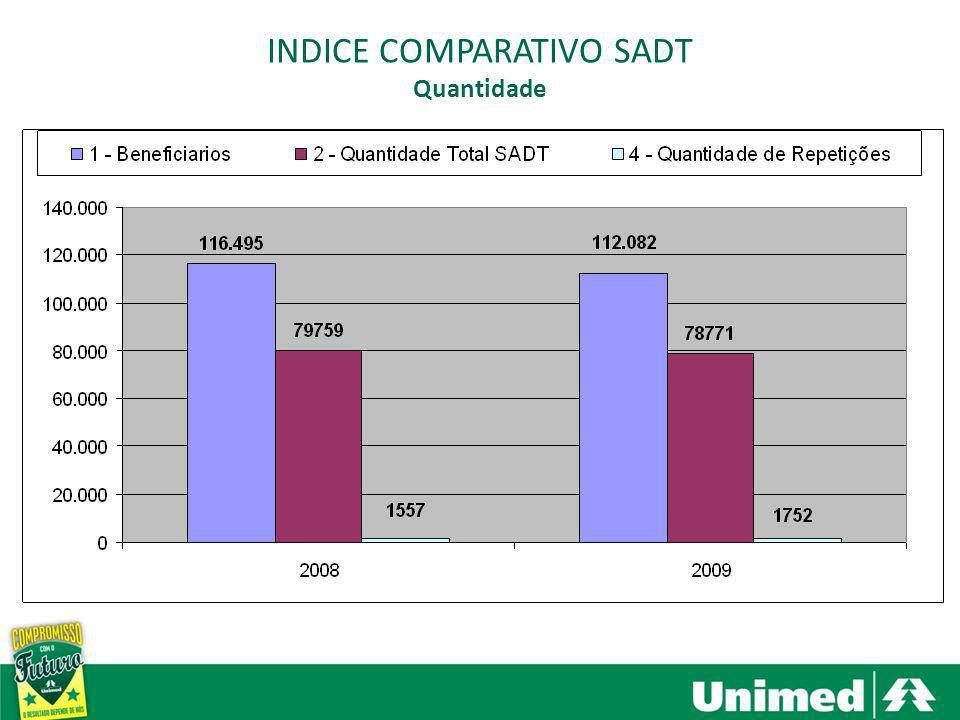 Santa Bárbara dOeste, Americana e Nova Odessa INDICE COMPARATIVO SADT Custo Observações: - Após 2008 teve um reajuste de 8% sobre o CH.