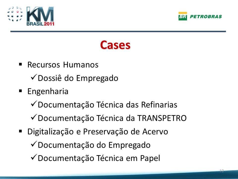 Cases 19 Recursos Humanos Dossiê do Empregado Engenharia Documentação Técnica das Refinarias Documentação Técnica da TRANSPETRO Digitalização e Preser