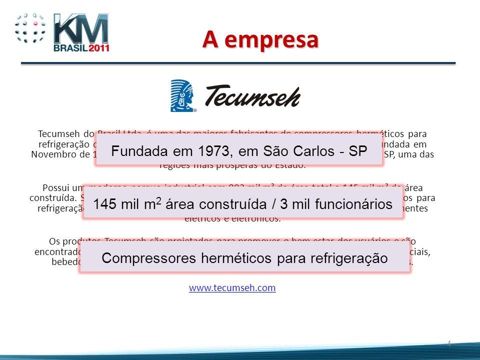 Tecumseh do Brasil Ltda. é uma das maiores fabricantes de compressores herméticos para refrigeração do mundo. Subsidiária da Tecumseh Products Company