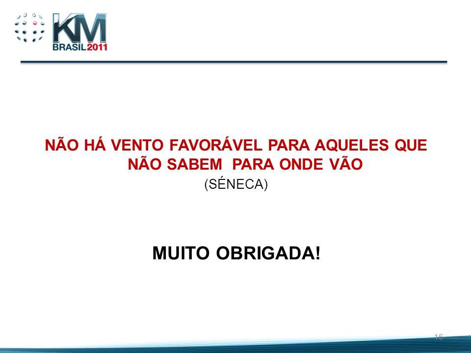NÃO HÁ VENTO FAVORÁVEL PARA AQUELES QUE NÃO SABEM PARA ONDE VÃO (SÉNECA) MUITO OBRIGADA! 16