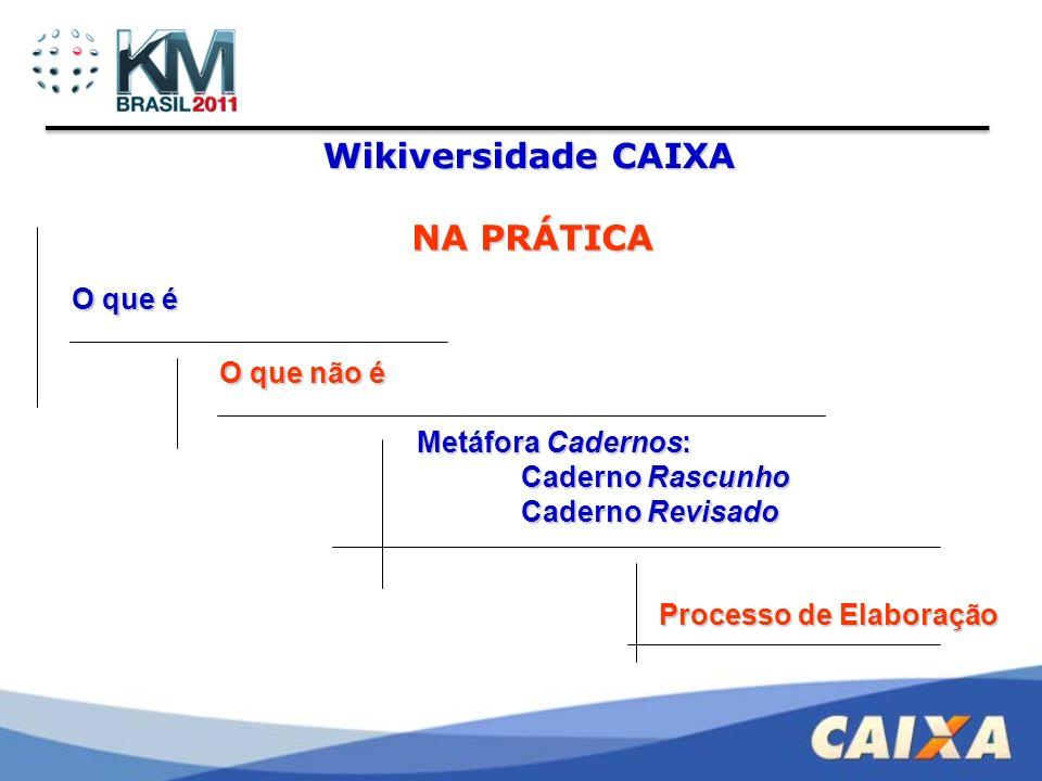 Wikiversidade CAIXA Alguns dados...