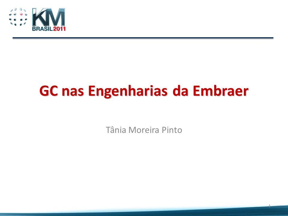 Conteúdo 2 Princípios que orientaram a implantação de GC Programa GC nas Engenharias da Embraer Cenário Embraer Lições aprendidas